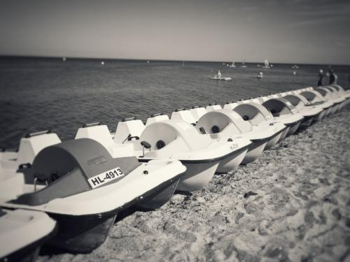 Boats BW